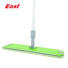High quality plastic head microfiber cloth floor cleaning flat mop with telescope aluminum handle