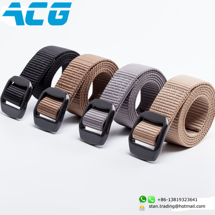 men's luxury Hand made Sport belt Carbon fiber belt