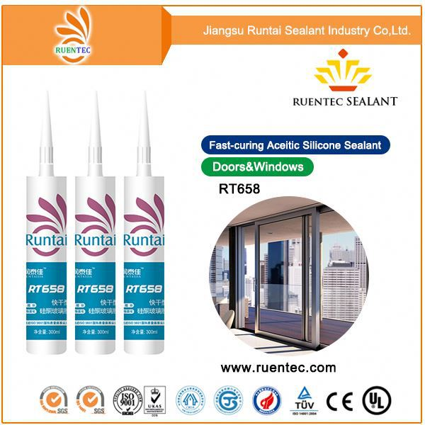 general purpose glass cement /mould proof silicone sealant with long shelf life