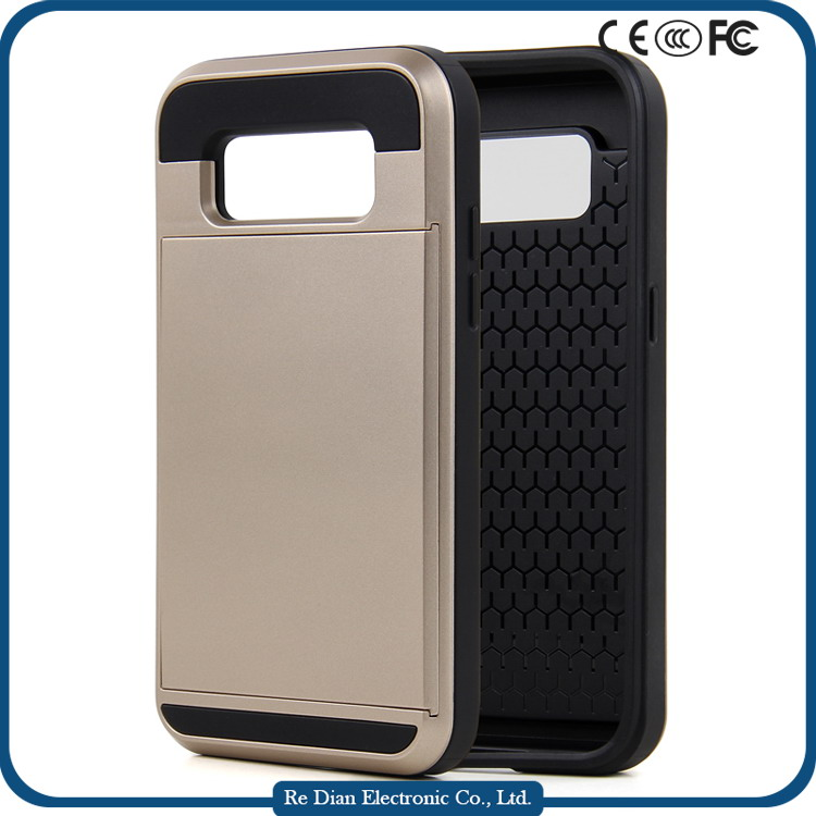 Made in China PC + TPU Hybrid Plastic Protective Mobile Phone Case Covers For Samsung G360 with Sliding Slot