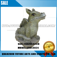 Resin Cute Cartoon Baby Dragon Statue Decoration