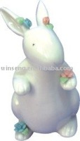 New Product 2014 Porcelain White Rabbit for Easter Day Home Decoration