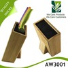 Modern design bamboo wood knife block with great price