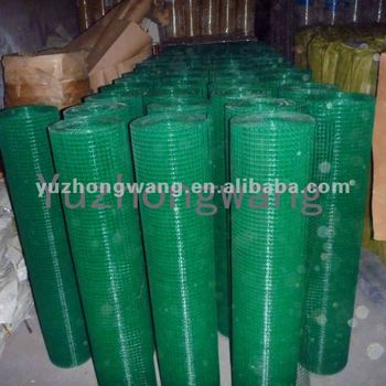 Green PVC Coated Welded Wire Mesh Roll