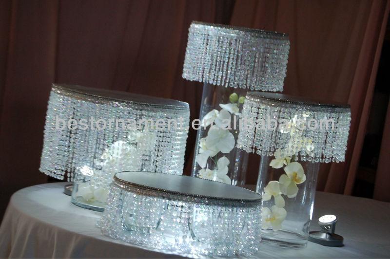 10 Quot Round Base Decorative Wedding Cake Stand Buy Crystal