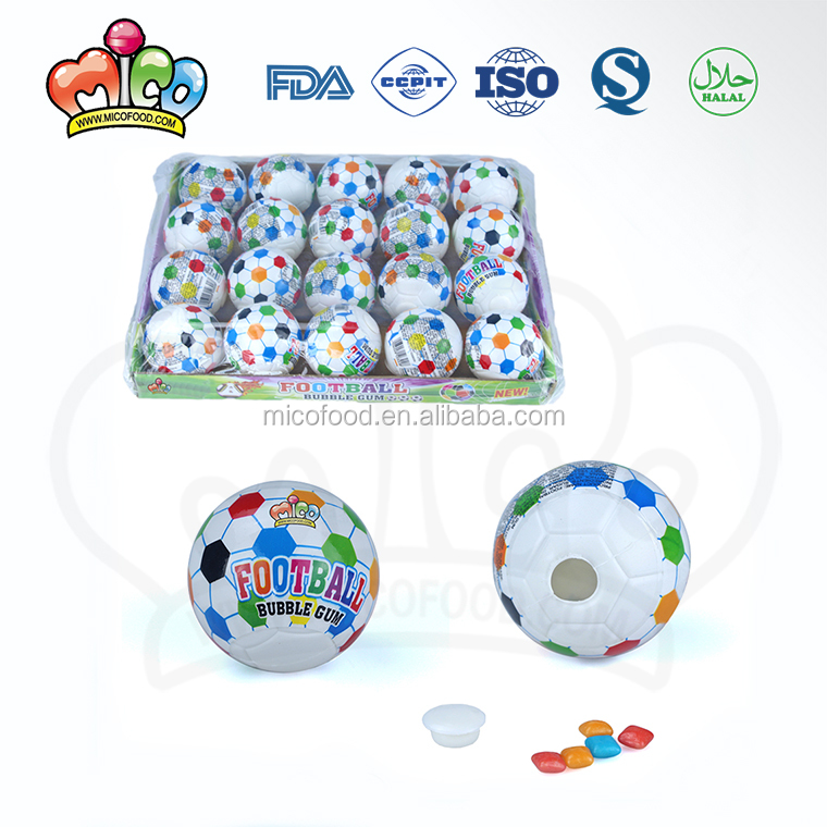 plastic football filled chewing bubble gum candy