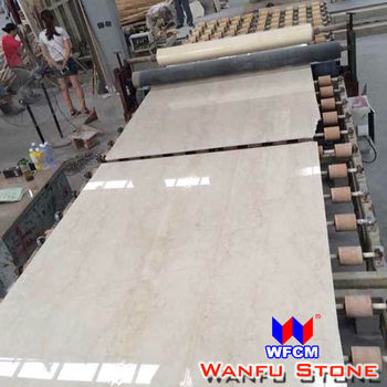 polished natural stone cream marble slabs
