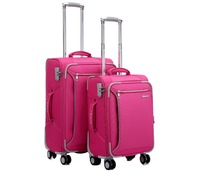 Hot Sale New Style Fashion woven Trolley Bag Cover cheap 4pcs luggage sets