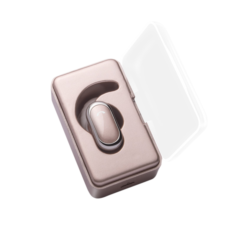 5.0 promotion gift wireless single stereo mini earphones with charging case
