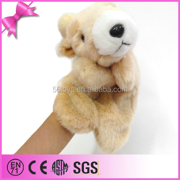 Super soft cuddly plush goat hand puppet for sale