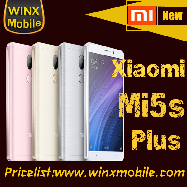 "2017 Newest!xiaomi mi5s plus Original 5.7"" FHD smart mi handphone 2017 new arrivals alibaba express brazil"