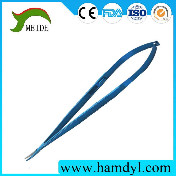 Surgical instruments Curved Needle Holder curved blunt jaws