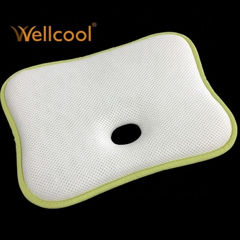 wellcool wholesale 3d mesh fabric anti roll pillow for baby