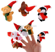 Christmas animal shaped stuffed finger Marionette puppet plush toy