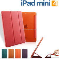 Wholesale Fashion Cases Smart Cover With Sleep & Wake up for iPad mini 4 tablet case
