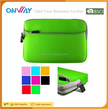 Alibaba China attractive with front zipper pocket and zipper top 15 inch neoprene laptop sleeve