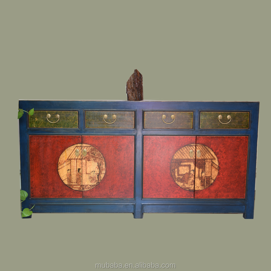 Wholesale reproduction antique recycle wood sideboard cabinet