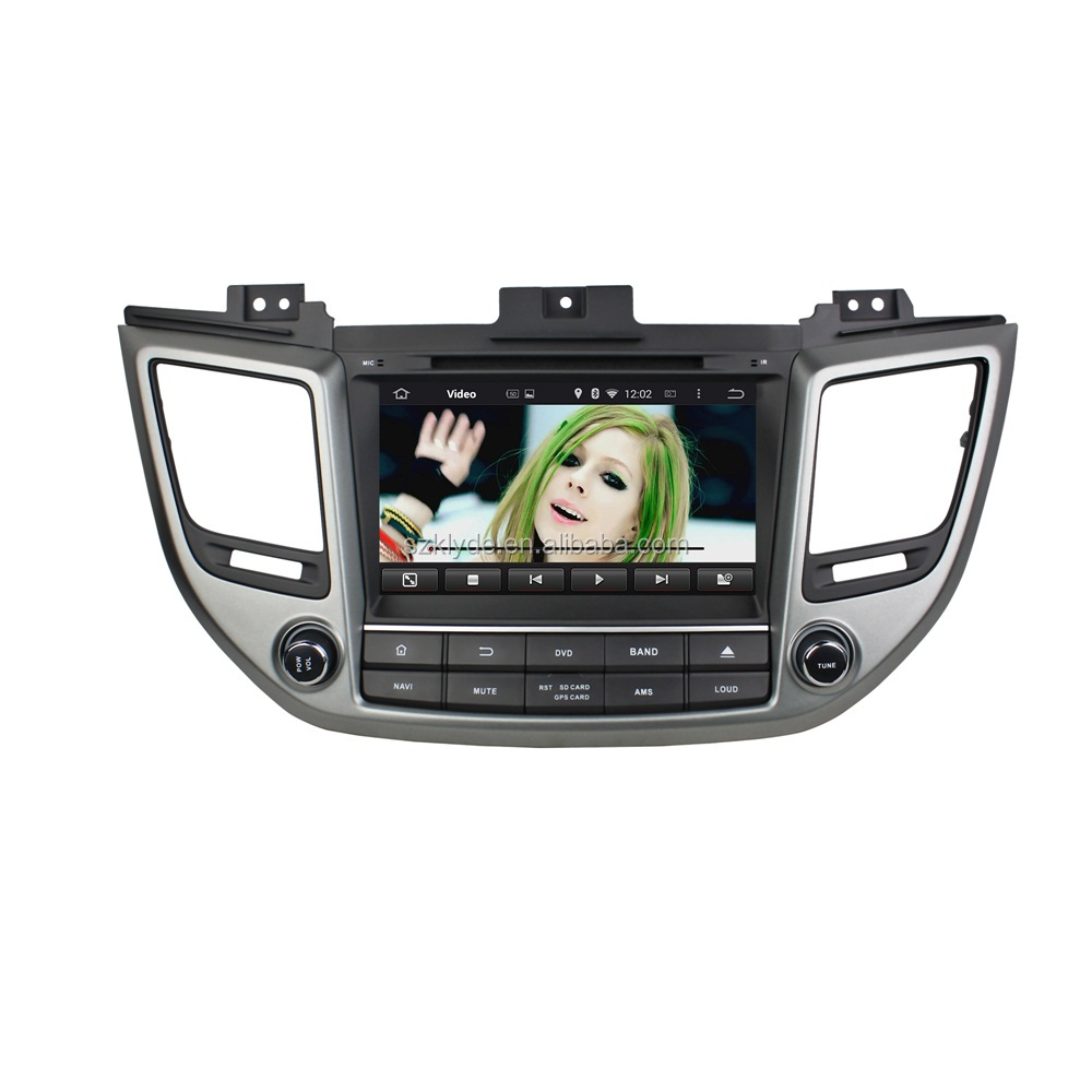 Android4.4 quad core ROM 16G resolution car dvd navigation for Hyundai IX35 2015