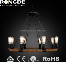 Environmental protection rope indoor elegant ancient chandelier lamps from indoor