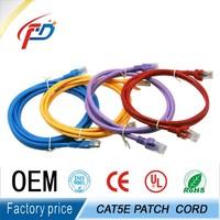factory 5M 7.5M 10M rj45 plug PATCH CORD UTP/FTP cat 6 cable 3m