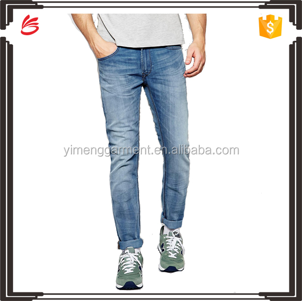 Men wholesale jeans 100% cotton damaged jeans design manufacturer in china