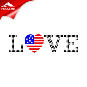 Love USA Designs Bling hotfix Rhinestone Motif