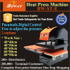 2 work stations pneumatic hot heat press digital printer for clothes