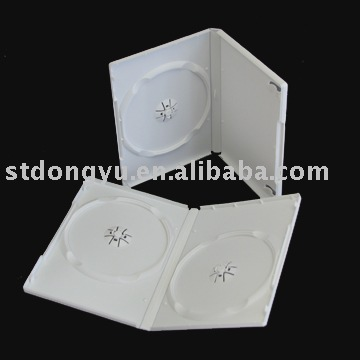 14mm Single and Double White DVD case