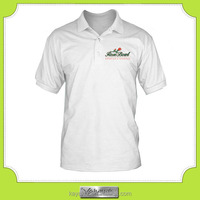 custom -made cheap white printed men's polo shirt for promotion