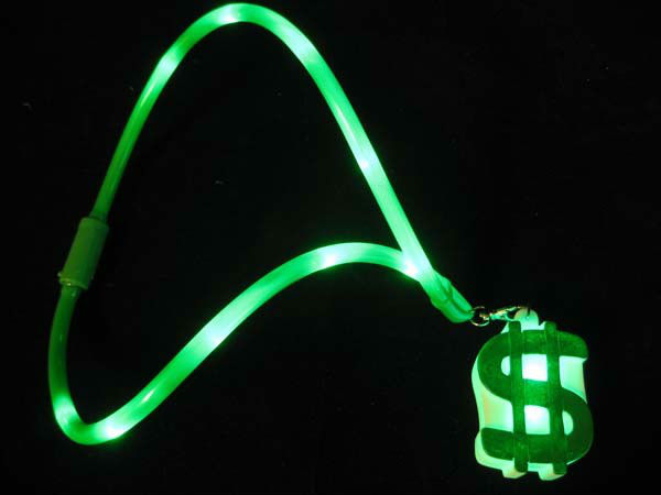 FLASHING DOLLAR SIGN NECKLACE for party