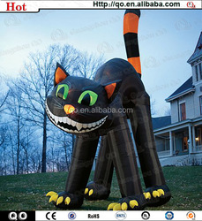 Best price funny halloween inflatable black cat for selling