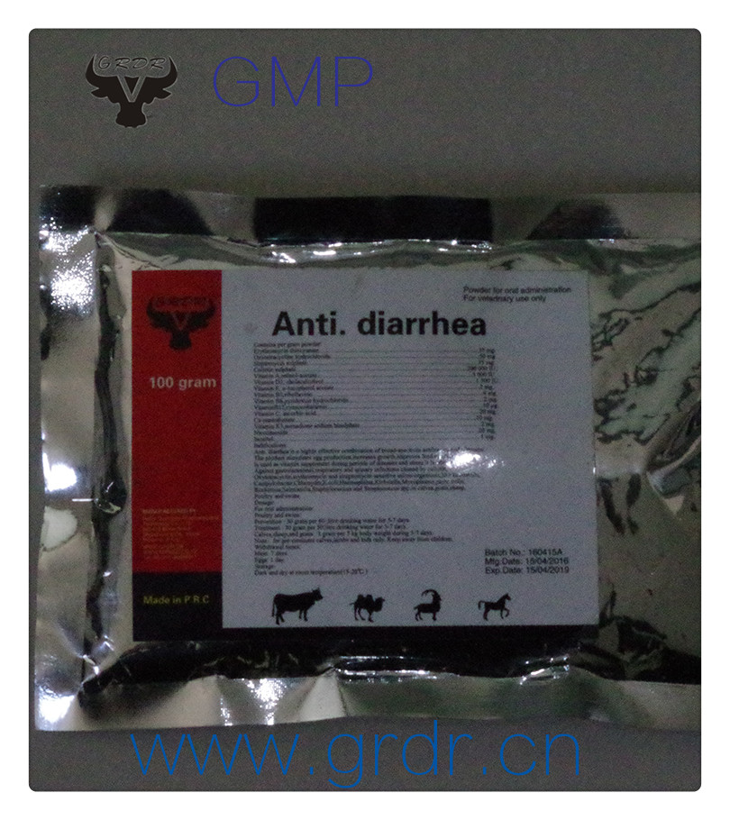anti diarrhea Pigeon racing medicine Coli-stop powder from top veterinary pharmaceutical companies