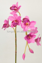 27642 artificial silk purple Cymbidium flowers vacation Decorative arts sell to good buyer and Export to Europe