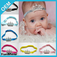 High Quality Hot Sale Infant Baby Girl Fashion Bog Crown Boutique Elastic Hair Bandband Decorative Girls Hair Band