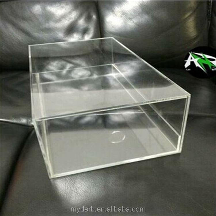 <strong>Acrylic</strong> sliding casual and sports shoe air hole storage box