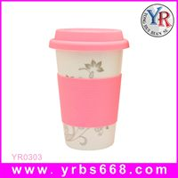 Factory direct sale Custom Ceramic Coffee Tea Mug With Cover Sleeve starbucks mug V shape mug