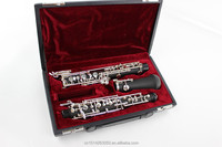 Selling cheap C tone oboe, silver plated surface automatic bakelite oboe
