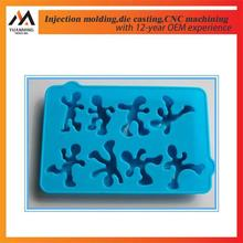 Factory custom plastic miniature human figure,silicone molding figures toy plastic products