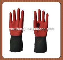 Double color black large wholesale industrial latex gloves protective work gloves