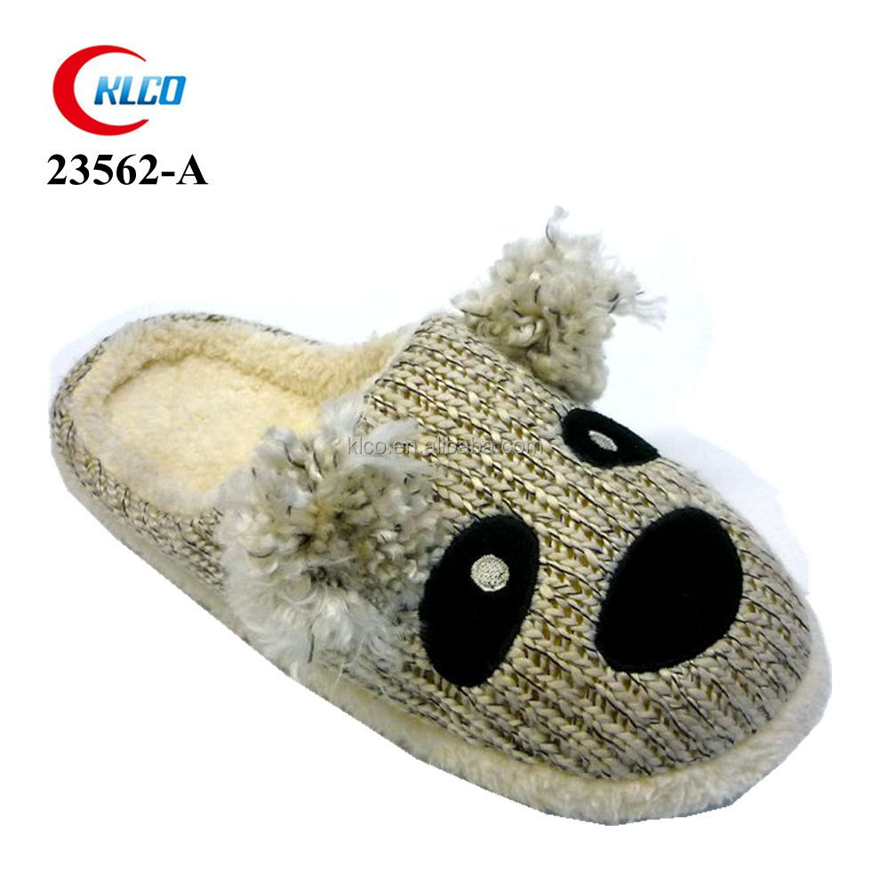 latest modern dog face printed slippers for guys