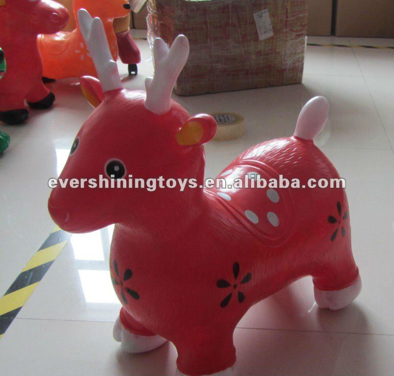jumping horse/ hopper cow/PVC hopping animal