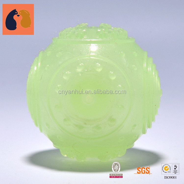 Pet Toys Non Toxic Rubber Glowing Dog Ball Launcher