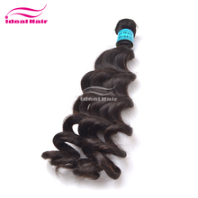 ideal Hot selling wholesale unprocessed natural black long brazilian human hair drawstring ponytail