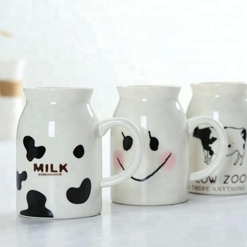 Creative Cartoon Ceramic Mugs Cute Animal Coffee Milk Tea Cup Novelty Mugs