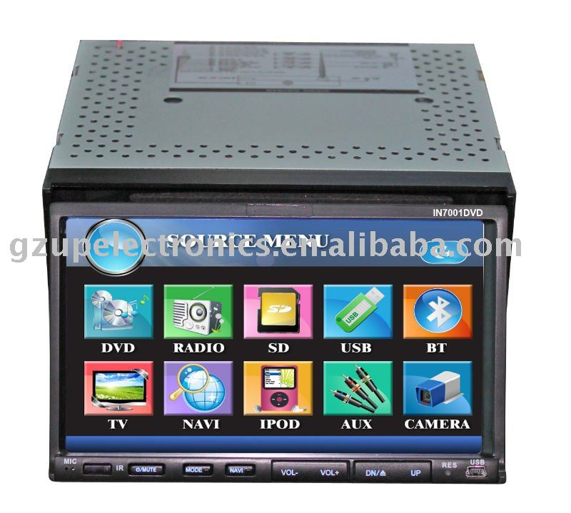 7 inch universal 2 din car dvd player/gps/bluetooth/ipod