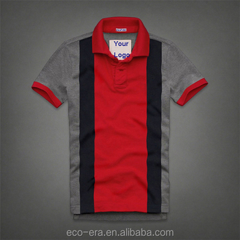 Accept ODM/OEM/Wholesale Order Custom Striped Design Polo Men's Funny Polo Shirt