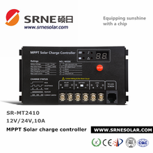 SRNE 12V 24V 10A Solar MPPT Car Battery Charger With Optional LCD Display