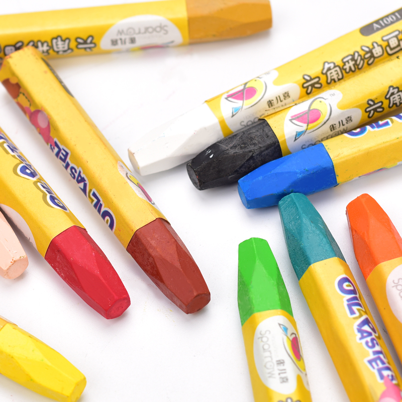 12 pcs oil pastel colorful stationery ,