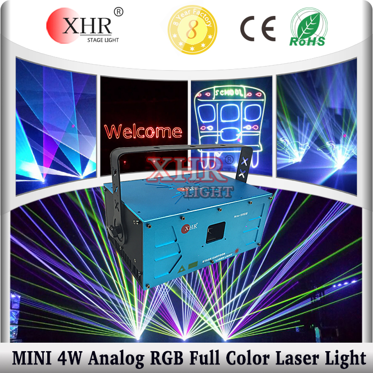 Mini RGB Home Laser Light Show,Full Color Laser Stage Lighting Projector 4W