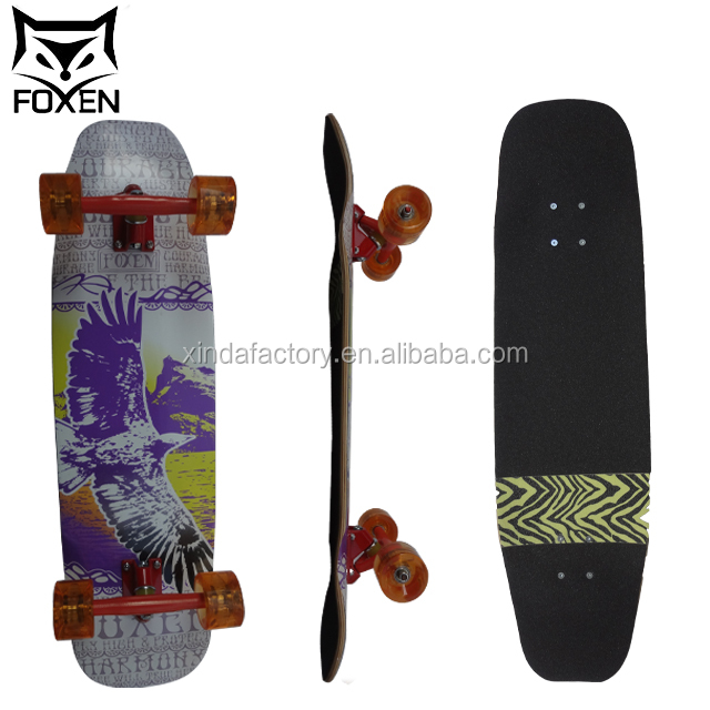 custom 3 layer bamboo 2 layer fiber glass Material bamboo skateboard